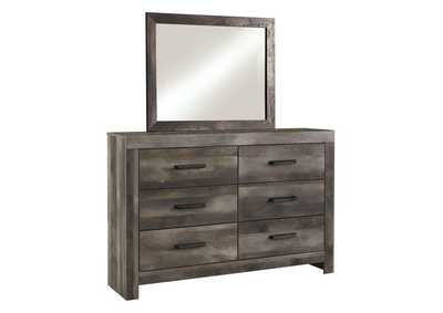 Wynnlow Gray Rustic Dresser and Mirror