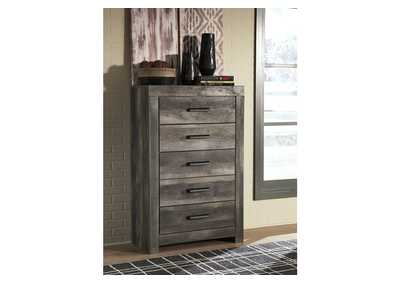 Wynnlow Gray Rustic 5 Drawer Chest,Signature Design By Ashley