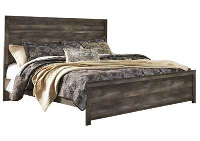 Wynnlow Gray Rustic King Panel Bed