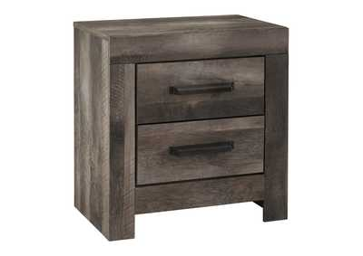 Wynnlow Gray Rustic Two Drawer Nightstand