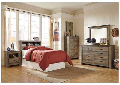Trinell Brown Bookcase Headboard