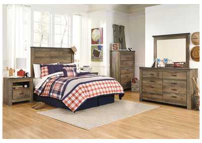 Trinell Brown Full Panel Headboard, Dresser & Mirror