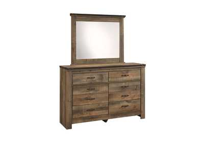 Trinell Brown Bedroom Mirror