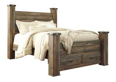 Image for Trinell Brown Queen Poster Storage Bed