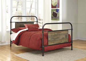 Trinell Brown Twin Metal Bed