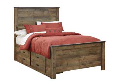Trinell Brown Full Storage Bed