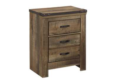 Trinell Brown 2 Drawer Nightstand