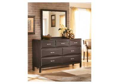 Image for Kira Black Bedroom Dresser w/Mirror