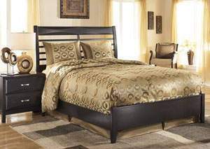 Kira Black Queen Panel Bed