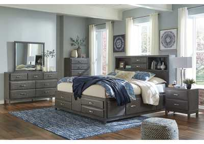 Caitbrook King Storage Bed w/Dresser and Mirror