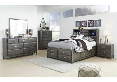 Caitbrook Full Storage Bed w/Dresser and Mirror