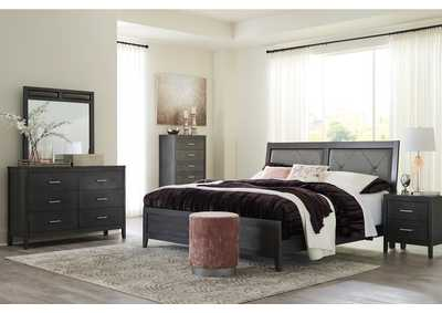 Image for Delmar Gray King Panel Bed w/Dresser and Mirror