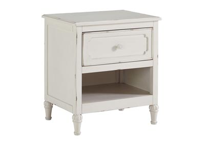 Faelene Chipped White One Drawer Night Stand