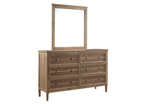 Klasholm Light Brown Bedroom Mirror