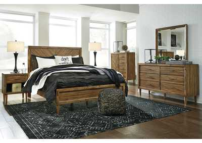 Faradyn Warm Brown Bedroom Dresser w/Mirror