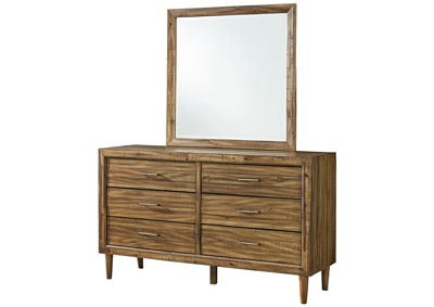 Faradyn Warm Brown Bedroom Mirror