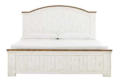 Wystfield White California King Panel Bed