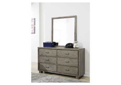 Arnett Gray Dresser and Mirror