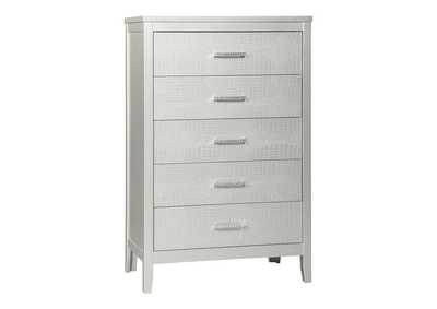 Image for Olivet Silver Five Drawer Chest