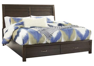 Image for Darbry California King Panel Bed with 2 Storage Drawers