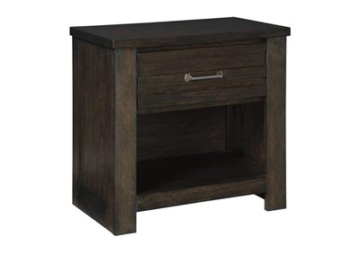 Darbry Brown 1 Drawer Nightstand