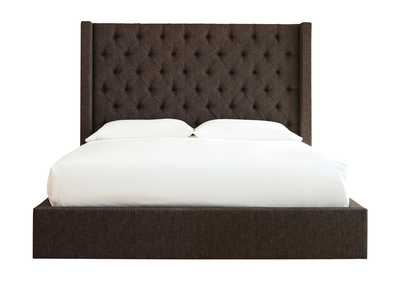 Norrister Brown California King Upholstered Storage Bed