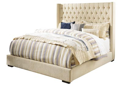 Norrister Beige California King Upholstered Platform Bed