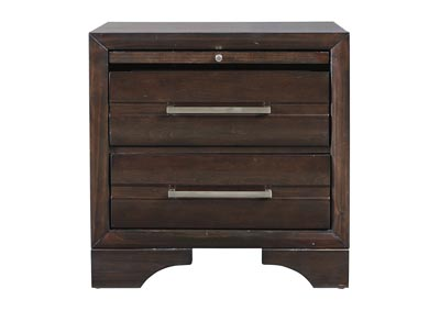 Andriel Dark Brown Nightstand