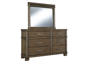 Leystone Dark Brown Bedroom Mirror