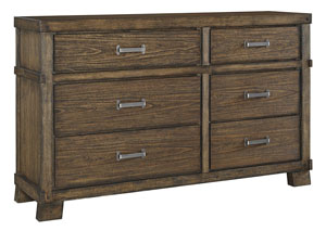 Leystone Dark Brown Dresser