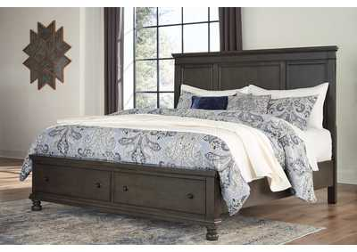 Devensted Dark Gray King Storage Bed,Signature Design By Ashley
