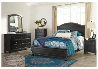 Froshburg Black/Brown Bedroom Dresser w/Mirror