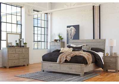 Image for Naydell Gray Queen Storage Bed w/Dresser and Mirror