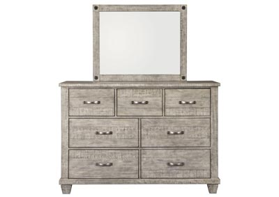 Naydell Gray Dresser and Mirror