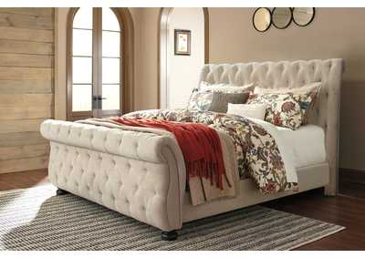 Willenburg Dark Brown Queen Upholstered Bed
