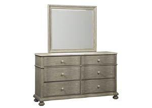Marleny Gray/Whitewash Bedroom Mirror