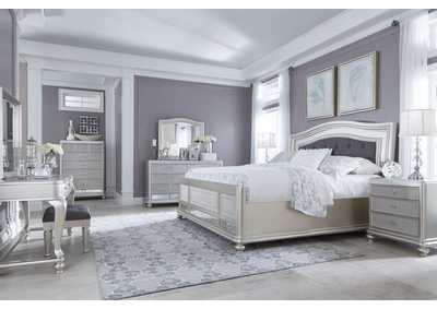 Coralayne Silver Bedroom Dresser w/Mirror,Signature Design By Ashley