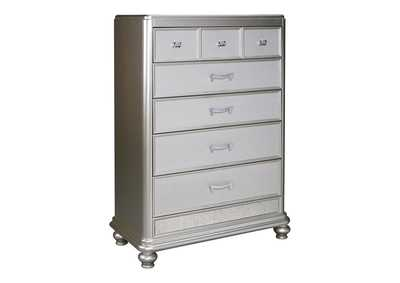 Image for Coralayne Silver Five Drawer Chest
