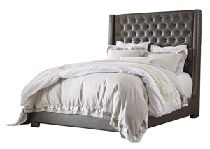 Coralayne Gray California King Upholstered Bed