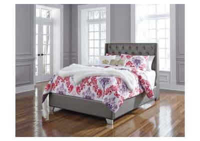 Coralayne Silver Full Upholstered Panel Bed
