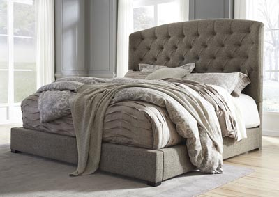 Gerlane Graphite Queen Upholstered Bed