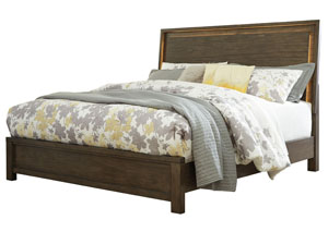 Camilone Dark Gray California King Panel Bed