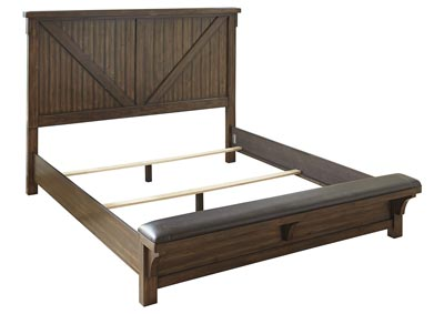 Lakeleigh Brown Queen Bed W Bench Footboard Barnett Amp Brown Furniture Florence Al