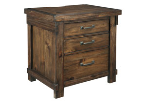 Lakeleigh Brown 3 Drawer Nightstand