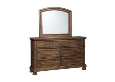 Flynnter Medium Brown Dresser w/Mirror