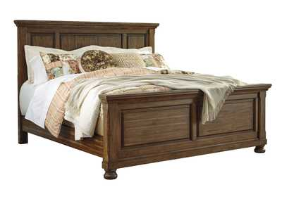 Flynnter Medium Brown Queen Panel Bed