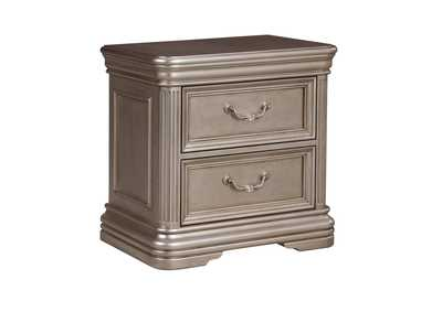 Birlanny Silver 2 Drawer Nightstand
