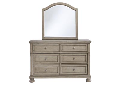 Lettner Light Gray Dresser and Mirror