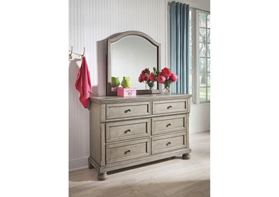 Lettner Light Gray Dresser and Mirror,Signature Design By Ashley