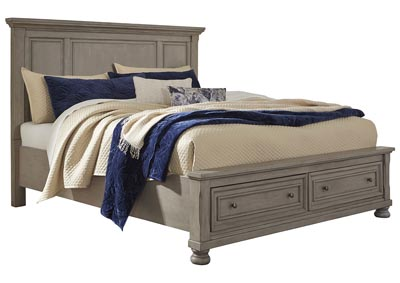 Image for Lettner Light Gray Queen Panel Storage Bed
